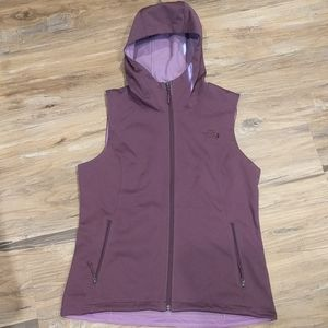 The North Face women's Hooded Vest Windwall SZ MED